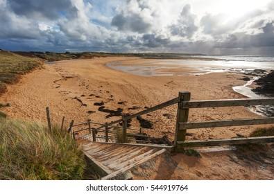Beautiful sandy beach in Cornwall, England.
