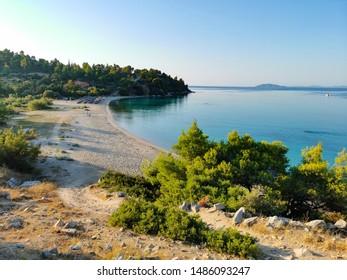 beautiful sandy beach in greece