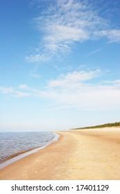 Beautiful sandy beach (Latvia)