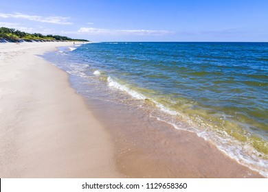 Beautiful sandy beach on Hel Peninsula, Baltic sea, Poland