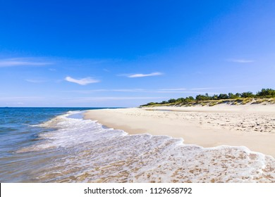 Beautiful sandy beach on Hel Peninsula, Baltic sea, Poland