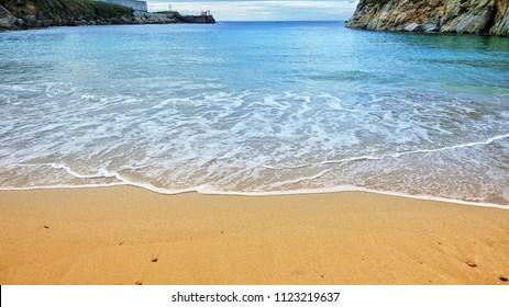 Beautiful sandy beach in Spain