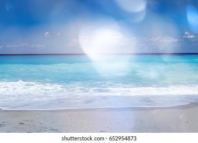 beautiful sandy beach in summer
