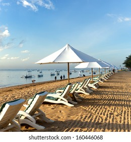 Beautiful Sanur beach on Bali, Indonesia.