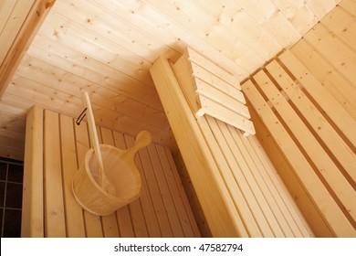 A beautiful sauna