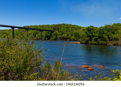 The beautiful savannah river near Lake Hartwell