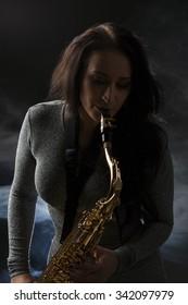 Beautiful Sax Player