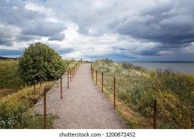 Beautiful Scandinavian landscape, Finland, Helsinki, view of the sea on the island of Suomenlinna