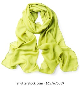 Beautiful scarf on white background