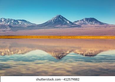 Beautiful scenario in the Atacama Desert, northern Chile, South America.
