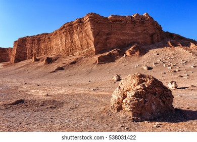 Beautiful scenario of Moon Valley with the amphitheater in background. Atacama, Chile