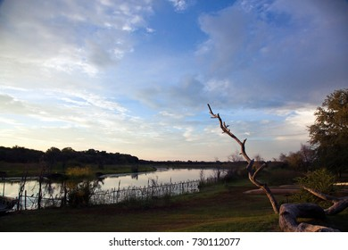 Beautiful scene of a Botswana River