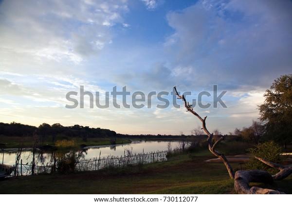 Beautiful scene of a Botswana River