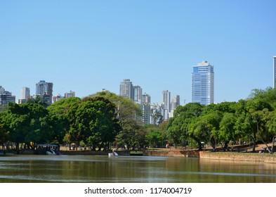 Beautiful scene close to the zoo in Goiania Goias Brazil