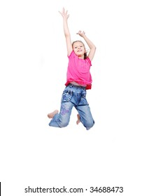Beautiful scene of happy childhood in air