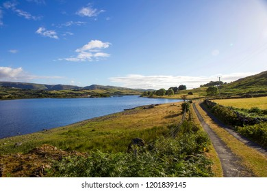 Beautiful Scene of Lough Mask on Sunny Day, County Mayo, Ireland