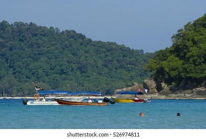 Beautiful scene at Perhentian Kecil Island, Terengganu, Malaysia.
