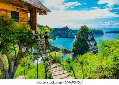 Beautiful scenery atop tree house