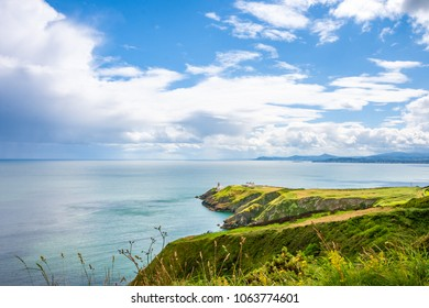 Beautiful scenery of Baily Lighthouse on Howth Head, county Dublin, Ireland