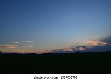 Beautiful scenery before sunset in the afternoon - sunset background