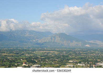 the beautiful scenery between marche and Abruzzo in Italy