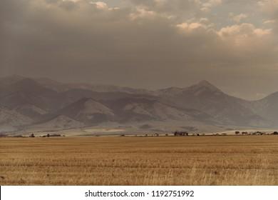 Beautiful Scenery of the Bridger Mountain Range in Bozeman, Montana