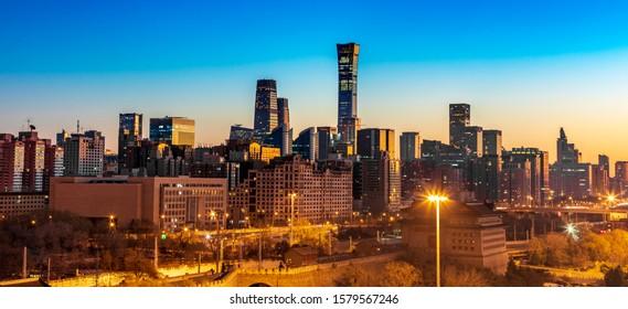 The beautiful scenery of China Tower in Beijing, China