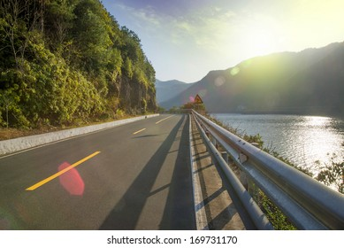 Beautiful scenery of the coastal road