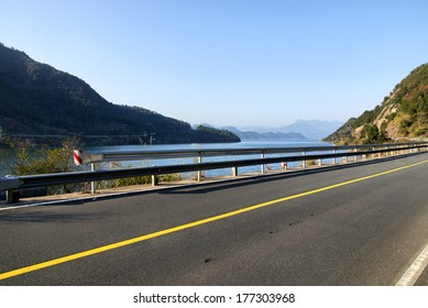 Beautiful scenery of the coastal road
