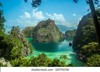 Beautiful scenery of Coron, Palawan, Philippines