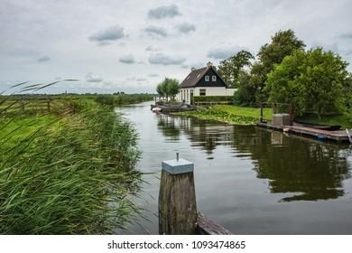 Beautiful scenery of Dutch countryside