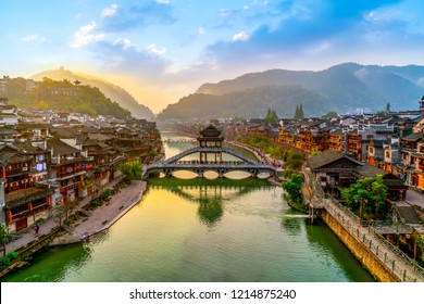 Beautiful scenery of Fenghuang ancient town