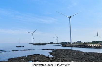 Beautiful scenery of Jeju Island in Korea