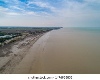 the beautiful scenery of Kuala Perlis from aerial view. Perlis is a state located at the north of Peninsular Malaysia.
