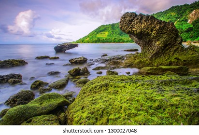 Beautiful scenery landscape of Alor Island. As archipelago county Indonesia has a lot of island. Islands, beaches, sky, clouds, stones, sands are mixed as unity