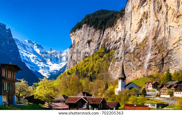 Beautiful scenery of Lauterbrunnen, Switzerland