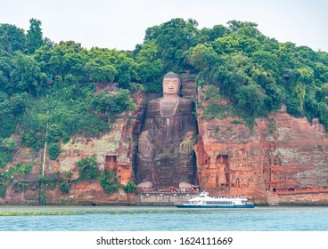 Beautiful scenery of Leshan Giant Buddha Scenic Spot, Sichuan Province, China