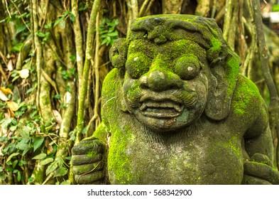 Beautiful scenery at Monkey Forest in Ubud - Bali, Indonesia