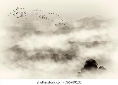 Beautiful scenery in Mount Huangshan, China