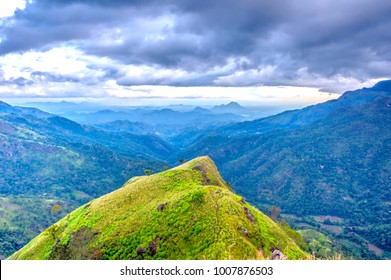 Beautiful scenery of mountains in central Sri Lanka around Ella