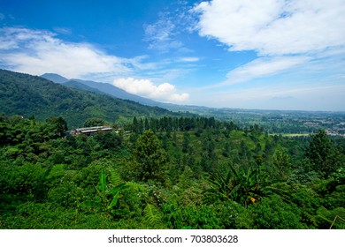 Beautiful scenery on top of hill, location at puncak, bogor, indonesia