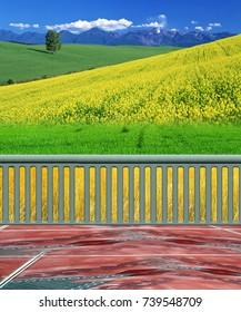 Beautiful Scenery and Photo-shop Background