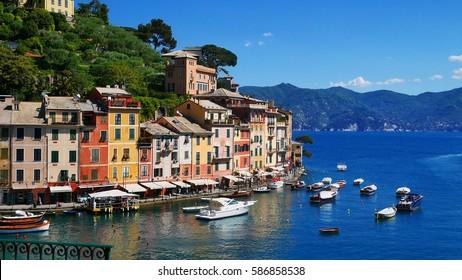 Beautiful scenery of Portofino, Genou, Italy