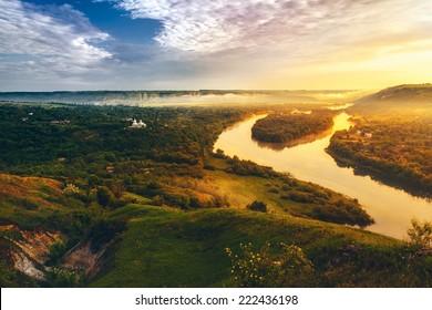beautiful scenery of river Dniester