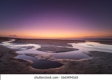 Beautiful scenery of seascape panorama and sunset.