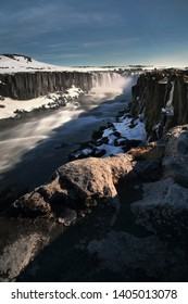 Beautiful scenery of Selfoss waterfall at Vatnajokull National Park in Iceland is famous natural landmark and very popular for photographers and tourists. Attractions and travel concept