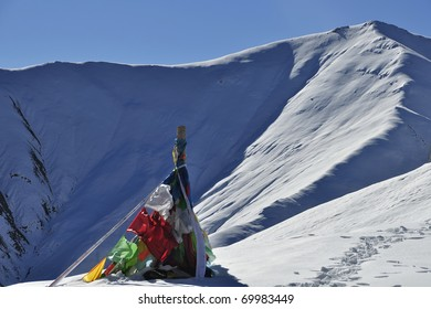 the beautiful scenery of snow mountain