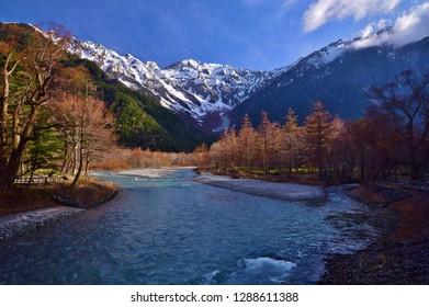 Beautiful scenery of a spring Kamikochi/Nagano