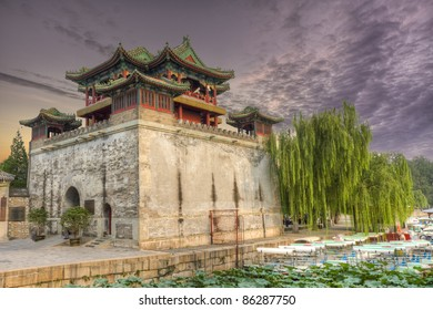 Beautiful scenery in the Summer Palace, Beijing, China.