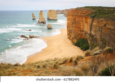 The beautiful scenery of The Twelve Apostles in south of Australia
